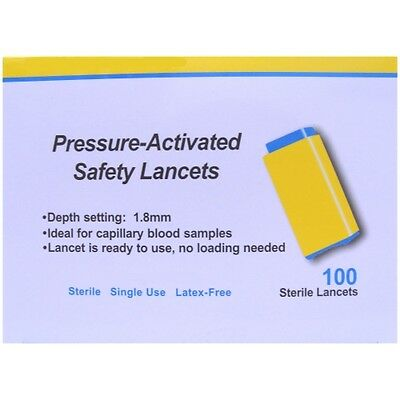 Apollo Pressure-Activated Safety Lancets 28G x 100