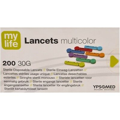 Mylife 30G Lancets Multicolor x 200