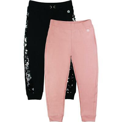 Limited Too Girls Black 2 Pack Sequined Fleece Lined Jogger Pants S 4 BHFO 2268