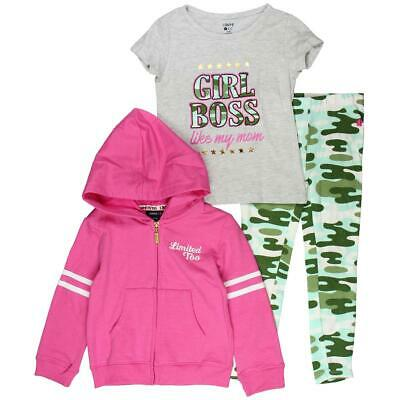 Limited Too Girls Pink 3 Piece Outfit Set Pant Outfit L 6 BHFO 1957