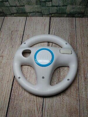OEM Official Nintendo Wii Steering Wheel Remote Controller For Mario Kart White