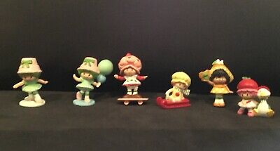 Strawberry Shortcake Vintage Figures X 6