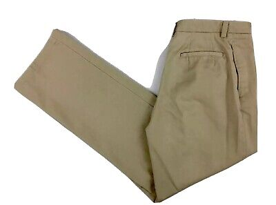 EDDIE BAUER Women's Khaki Cotton Chino Uniform Pants Size 4.  T-4