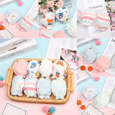 Cute Cotton Warm Anti Scratching Protection Face Baby Gloves Mittens