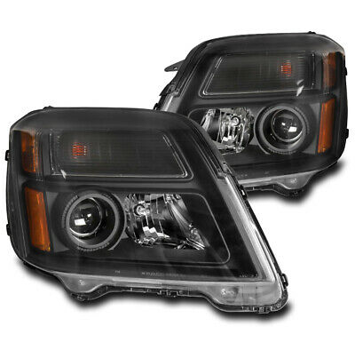 For 10-15 Gmc Terrain Projector Headlights Headlamps Lamp Black Left+Right Pair