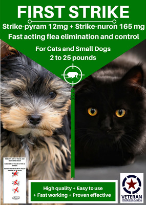 All in one Flea killer and control for Small Cats and Dogs 12 uses