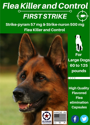 All in one Flea killer and control for Large Dogs 60 to 125 pounds 24 uses