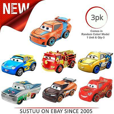 Cars 3 Mini Racer Car Asst│Disney Pixar's Toy Car Play Set│Pack of 3