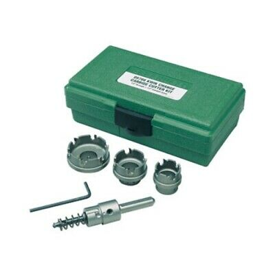 """Greenlee 655 Quick Change Stainless Steel Hole Cutter Kit (7/8"""", 1-1/8"""", 1-3/8"""")"""