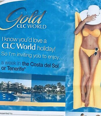 Holiday Spain Or Tenerife -  Voucher For Accommodation. Club La Costa.