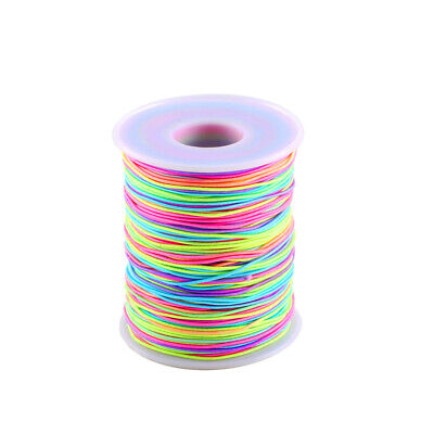1.5mm Round Nylon Beading Cord Rainbow Multi Coloured 1M to 10M For Jewellery