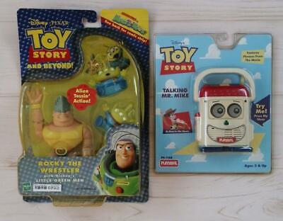 "Hasbro Toy Story ""Rocky the Wrestler"" & ""Talking Mr. Mike"" Set JAPAN F/S Unused"