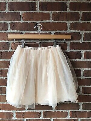 Crewcuts Size 10 Child sheer tulle peach elastic waist skirt
