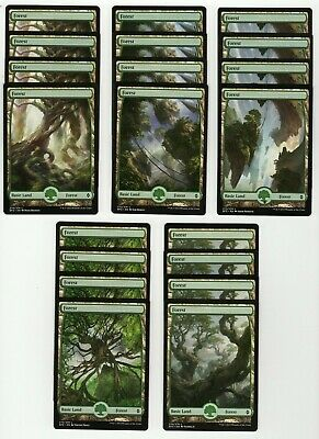 20x FOREST Full Art Basic Land NM/LP MTG Magic the Gathering Battle For Zendikar
