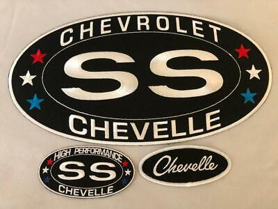 LARGE CHEVY SS CAMARO SEW//IRON ON PATCH BADGE EMBROIDERED 6-1//4X12 CHEVROLET