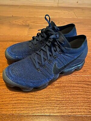 Nike Air VaporMax Flyknit (Men's Size 11) Navy Blue With Black