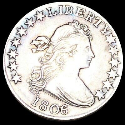 1806 Draped Bust Half Dollar NEARLY UNCIRCULATED Philly Key Date 50c Silver NR!