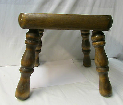Antique Rustic Solid Wood Stool - Sturdy Stool