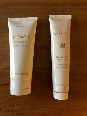 Mary Kay Extra Emollient Night Cream & Satin Hands Buffing Cream pre owned Rare