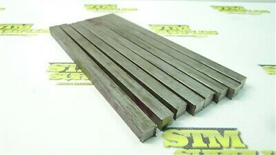 """5 Lb 10 Pc 304 Stainless Steel Solid Square Bar Stock 1/2"""" X 1/2"""" X 8-1/2"""""""