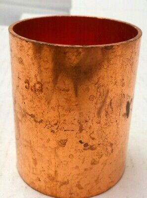 EPC Wrot Copper 2 x 2-1/8 inch Copper Solder Joint Coupling, W1909