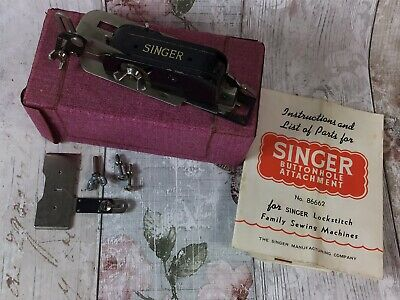 Vintage Singer Buttonhole Attachment 86662 with instructions