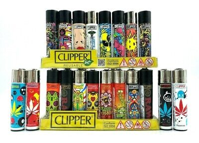 20 X Original Brand CLIPPER LIGHTERS Full Size Refillable Multipurpose Mix Style