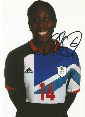 TEAM GB & CHELSEA LADIES* ANITA ASANTE SIGNED 6x4 LONDON 2012 PORTRAIT PHOTO+COA