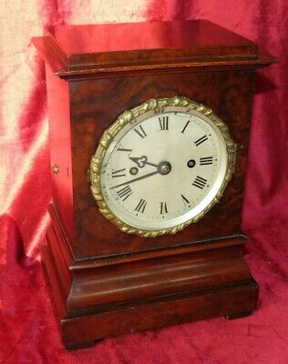 Classic English Walnut Double Fusee Library Clock