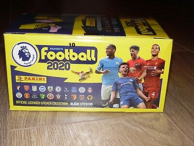 NEW- Sealed Box -100 packets - Panini Football 2020 Premier League Stickers