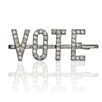 """KITSCH """"Vote"""" Rhinestone Bobby Pin- INSPIRE OTHERS TO VOTE Ends Tue."""