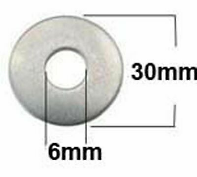 Rondelle plate M6 INOX  304  Extra large 30mm.  (6x30x1.5)  20-66