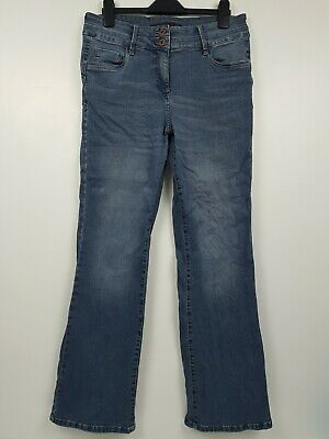 Ladies Next Lift Slim & Shape Womens Bootcut Faded Blue Jeans Size 16 L