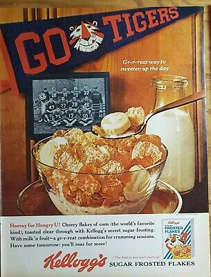 Lot of 3 Vintage 1961 Kellogg's Cereal Print Ads Frosted Flakes