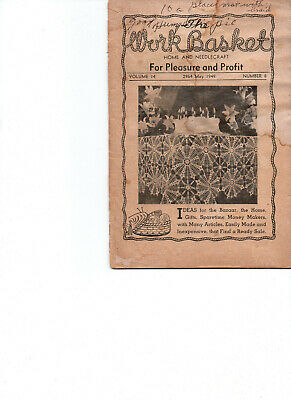 May 1949/WORKBASKET Home & Needlecraft/Preowned Booklet