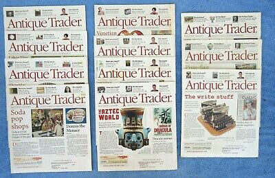11 Issues Antique Trader Magazine 2008 2009 Antiques & Collectibles Marketplace