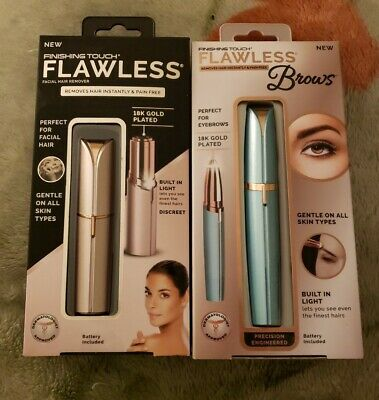 Finishing Touch Flawless Gold & Flawless Brows Teal Blue Removes Hair Instantly