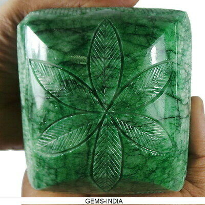 3900 Ct Natural Green Emerald From Brazil Hand Carved Rare Earth mined Gemstone