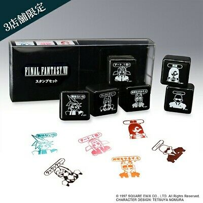 Final Fantasy VII Remake Square Enix Cafe Exclusive Character Polygon Stamp Set