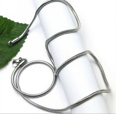 100pcs Wholesale Silver Stainless steel Charm Snake Chain Necklace 20'' Thin 2mm