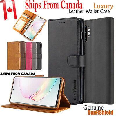 Samsung Galaxy A20 A30 A50 A70 Note 10 + Leather Wallet Flip Magnetic Case Cover