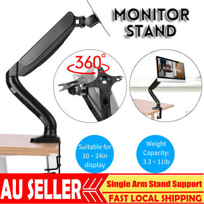 Single Flexible Arm Monitor Desk Mount HD LED LCD Stand Display Screen TV Strut