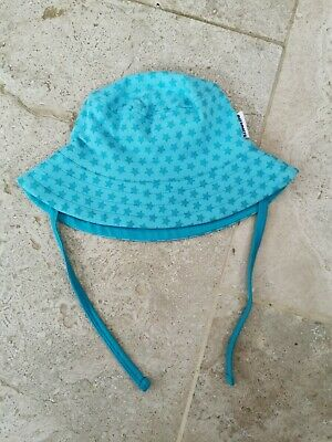 Very Good Condition Maxomorra Star Turquoise Sun Hat 12-24 Months