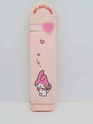 Vintage 1976 Sanrio My Melody Pink Slide Out Comb Mirror & Holder Hello Kitty