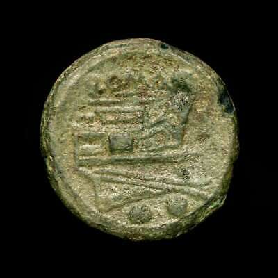 *Lucernae* Roman Republic Anonymous Æ Sextans Prow Two pellets Rome 215-212 BC