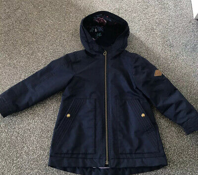 Girls Joules Coat Age 5 Navy Blue Small Rip