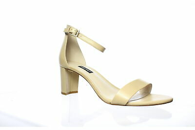 Nine West Womens Beige Ankle Strap Heels Size 11 (692590)