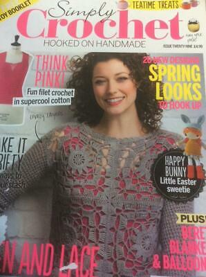 Simply Crochet Issue 29 - Happy Bunny Easter Doll, Beret, Blanket, Balloons, Egg