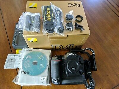 Nikon D4S 16.2MP Digital SLR Camera 7688 shutter clicks w/ L-bracket & Box