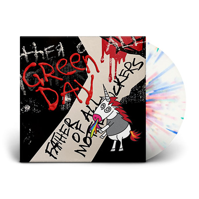 Green Day Father Of All... Limited Rainbow Puke Lp Album Vinyl Brand New Sealed